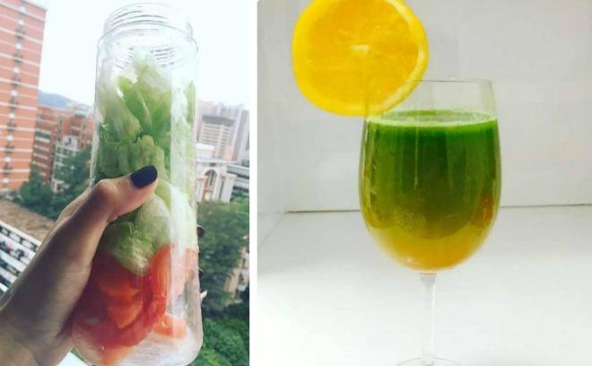 <p> Uống nước thanh lọc có nguồn gốc từ rau củ chẳng những giúp cô sở hữu vòng bụng phẳng mà da dẻcòn mịn màng, tươi sáng hơn.</p>