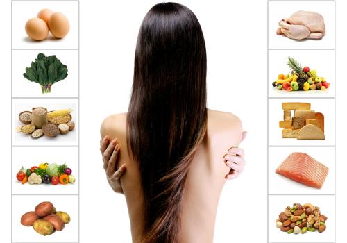 Ăn uống đủ chất giúp tóc khỏe từ bên trong. Ảnh: StyleCraze