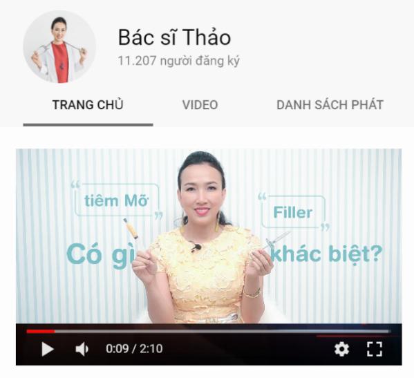 Kệnh Youtube Bác sĩ Thảo thu hút hơn 11.000 lượt theo dõi.