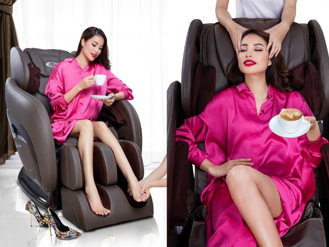 Ghế massage Elip chăm sóc toàn thân cho Hoa Hậu.