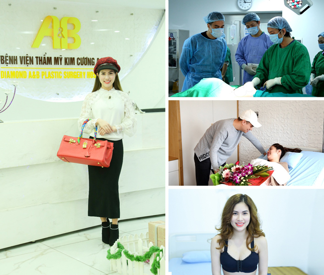 Trần Hươngtân trang nhan sắc và vóc dáng chính là bện viện Thẩm mỹ Kim Cương A&B.