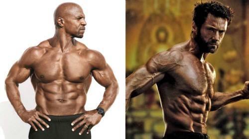 Terry Crews và Hugh Jackman đều nhịn ăn gián đoạn để sở hữu cơ thể cường tráng. Ảnh: MJ.