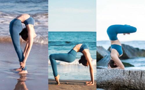 Linh có thể tạo dáng Yoga ở bất kì đâu mà không bị ảnh hưởng bởi yếu tố ngoại cảnh như nhiệt độ, tiếng ồn.