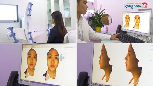Công nghệ dựng hình 3D, công nghệ thực tế ảo được áp dụng nhằm giúp thí sinh xem trước kết quả phẫu thuật.