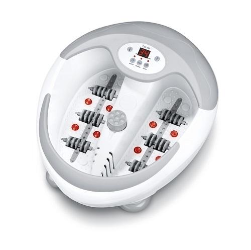 Bồn ngâm chân, làm nóng nước, massage đa năng có 3 chế độ massage rung, massage sủi, làm nóng nước từ 35-48 độ C, công suất 400W, có đồng hồ hẹn giờ, phụ kiện đầu massage gót chân đi kèm.