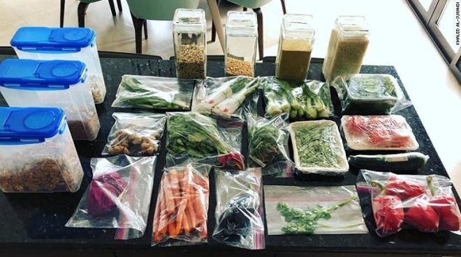 Chế độ ăn thực vật được Al-Suwaidi đóng gói lại. Ảnh: CNN