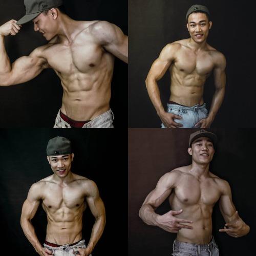 Thân hình vạm vỡ của Minh Tú sau 7 năm tập gym.