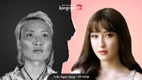 Sau phẫu thuật thẩm mỹ, Trần Ngọc Sang có ngoại hình xinh đẹp.