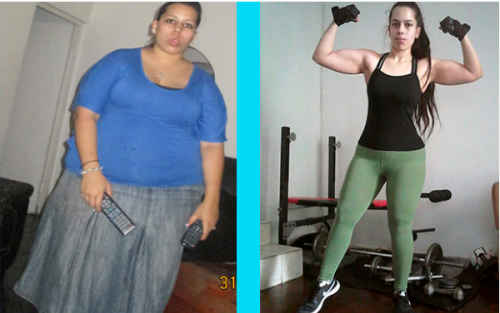 Roxy Strydom trước và sau giảm cân. Ảnh: Womens Health.
