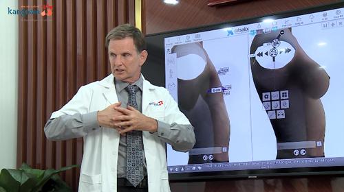 Bác sĩ Robert Peterson -Chuyên gia tạo hình vóc dáng hàng đầu đến từ Mỹ, bác sĩ tư vấn nâng ngực cho Trần Ngọc Sang chia sẻ về việc phẫu thuật nâng ngực.