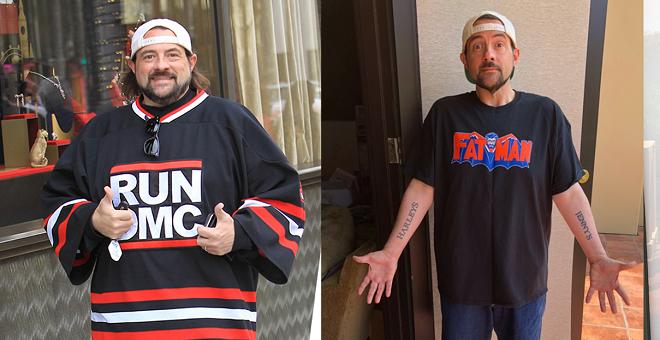 Đạo diễn Smith trước và sau khi giảm cân. Ảnh: MensHealth