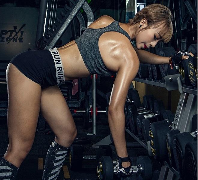 Nguyên Thi tập gymmỗi ngày để quen với cường độ tập luyện. Ảnh:Vương Quang
