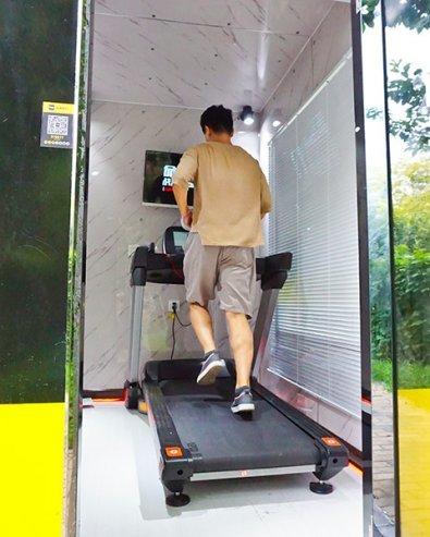 Một phòng gym mini ở Trung Quốc. Ảnh: China Daily.
