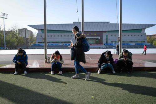Nhiều sinh viên Trung Quốc bị thừa cân do lười vận động và ăn uống không lành mạnh. Ảnh: AFP.