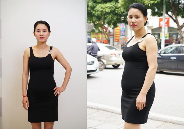 Cân nặng tăng nhanh khiến vợ chồng chị Mỹ Hương hoang mang.