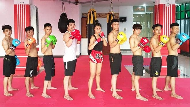 Lớp học Muay Thái của Nhung. Ảnh: Nhân vật cung cấp