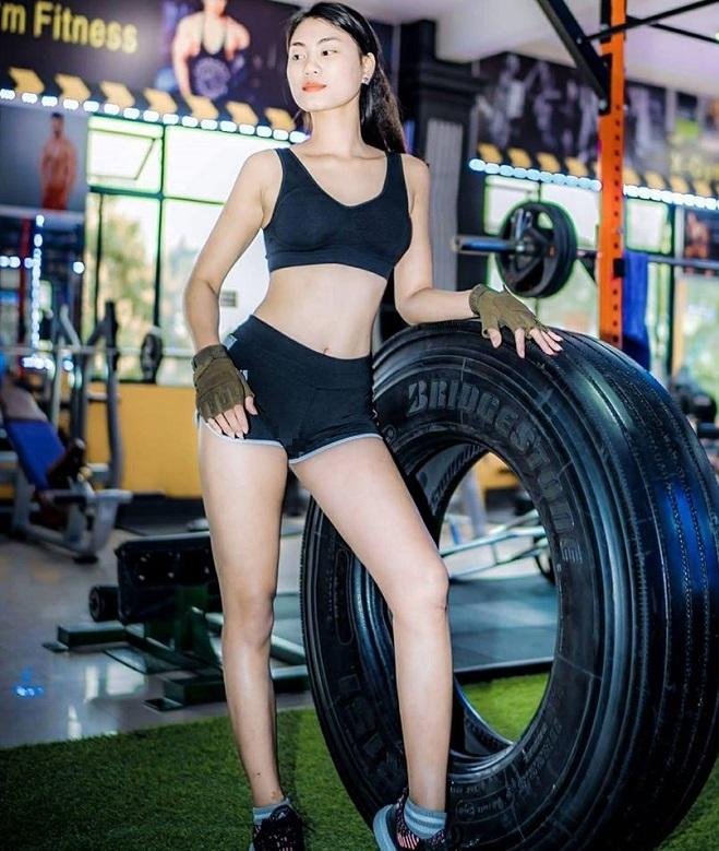 Vóc dáng của Nhung được duy trì nhờ tập luyện thể thao đều đặn. Ảnh: Nhân vật cung cấp