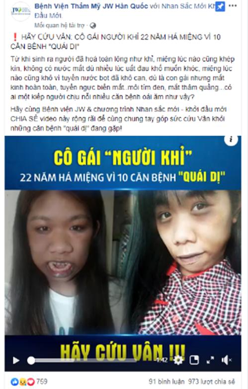 Trường hợp của Tường Vân được lan tỏa trên Facebook.