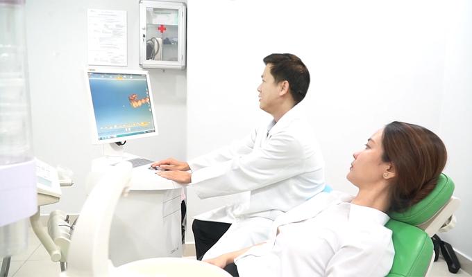 Hệ thống máy quét Trioshiện đại được ứng dụng trong cấy ghép implant kỹ thuật số.