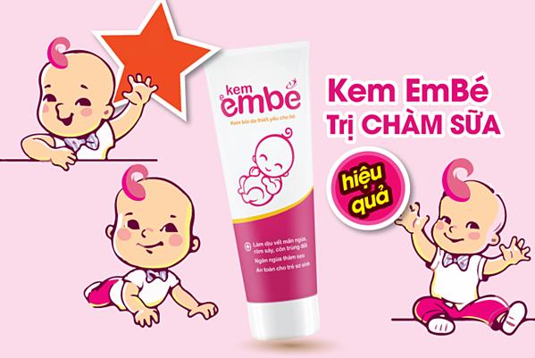 Kem EmBé góp phần khắc phụcchàm sữa ở trẻ.