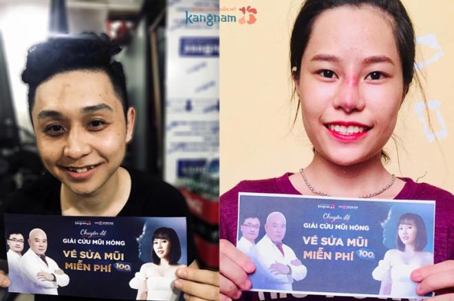 2 thanh niên nhận quà giá trị từ bệnh viện thẩm mỹ