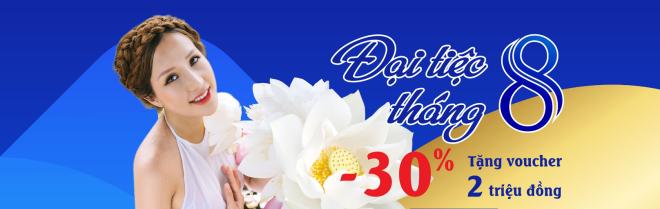 Thẩm mỹ Như Hoa giảm sâu 40% tổng hóa đơn cho khách hàng, cộng tác viên sinh nhật tháng 8.