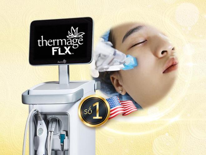 Viện thẩm mỹ Khơ Thị kết hợp công nghệ Thermage với Bio Enzymes để tăng hiệu quả trẻ hóa da.