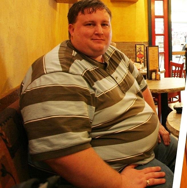 Tim đạt đỉnh điểm cân nặng là 250 kg vào 3 năm trước. Ảnh: Mens Health