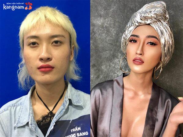 Trần Ngọc Sang - phiên bản nữ giới trở nên mềm mại, xinh đẹp.