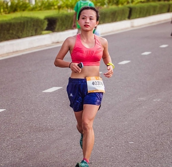 Đường tại một giải chạy được tổ chức ở Đà Nẵng năm 2019. Ảnh do nhân vật cung cấp.