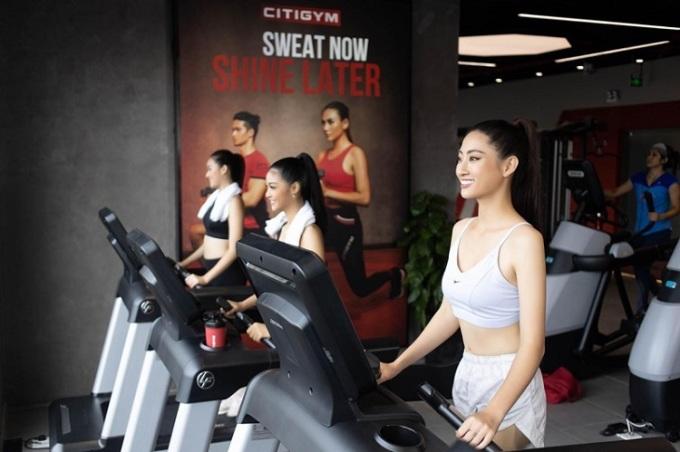 Top 3 Miss World Việt Nam 2019 Hoa hậu Lương Thùy Linh, Á hậuHà Kiều Loan, Á hậu Tường San (từ phải qua)chọn Citigym là nơi tập luyện trước khi bước vào đấu trường nhan sắc thế giới.