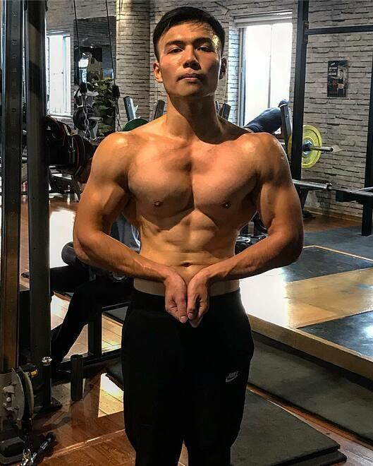 Thể hình của Nguyễn Quang Thắng sau 90 ngày tập luyện. Ảnh: Nhân vật cung cấp