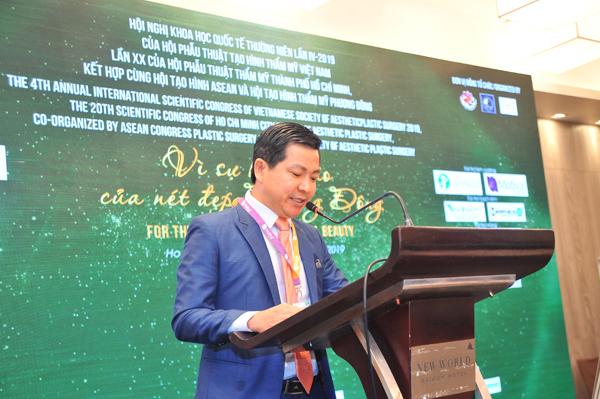 TS.BS Nguyễn Thanh Hải – Chủ Tịch Hội Nghị Khoa Học Thường Niên năm 2019 phát biểu khai mạc hội nghị