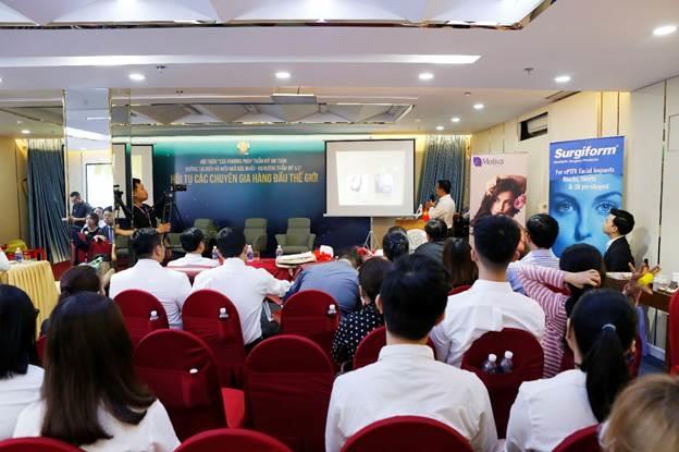 Hội thảo nhận được sự quan tâm của nhiều tín đồ thẩm mỹ Việt Nam.