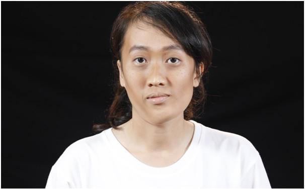 Huỳnh Thị Mỹ Duyên - thí sinh đầu tiên nhận vé thẩm mỹ miễn phí.