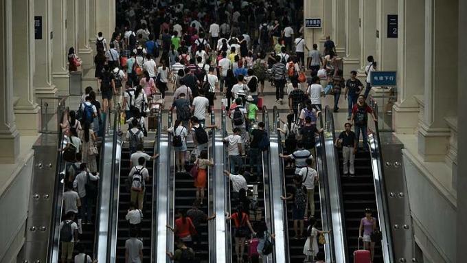 Sân ga Hankou, Vũ Hán vào sáng ngày 23/1. Ảnh: Reuters.