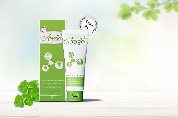 Kem ngừa rạn Amella có thành phần tự nhiên, chiết xuất rau má lành tính.