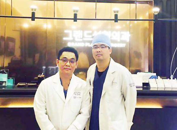 Bác sĩ Ân cùng đồng nghiệp tại Bệnh viện Grand Hàn Quốc.