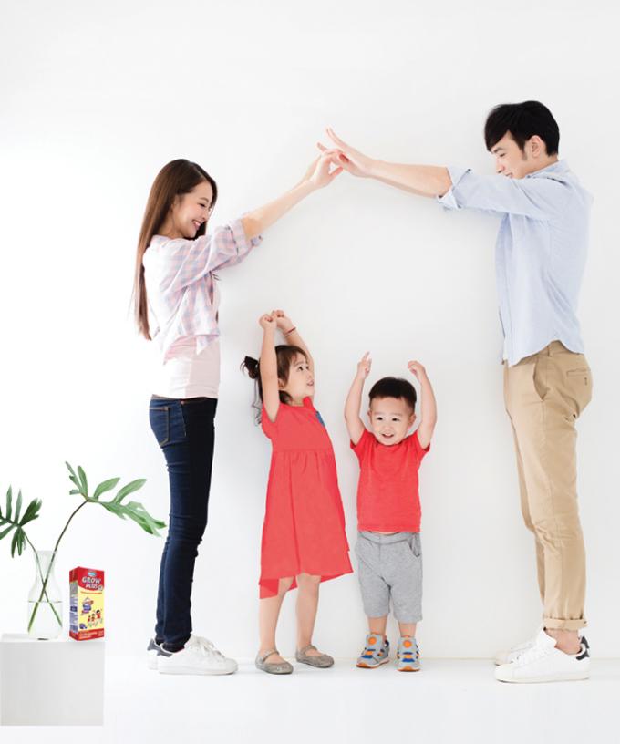 Bé khỏe mạnh, cao lớn là niềm vui của bố mẹ.