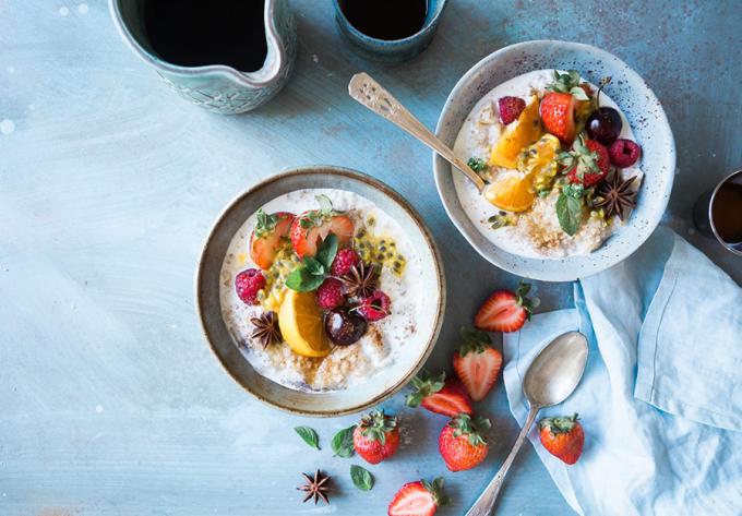 ữa ăn sáng nhanh gọn, giàu dinh dưỡng theo kiểu Âu.
