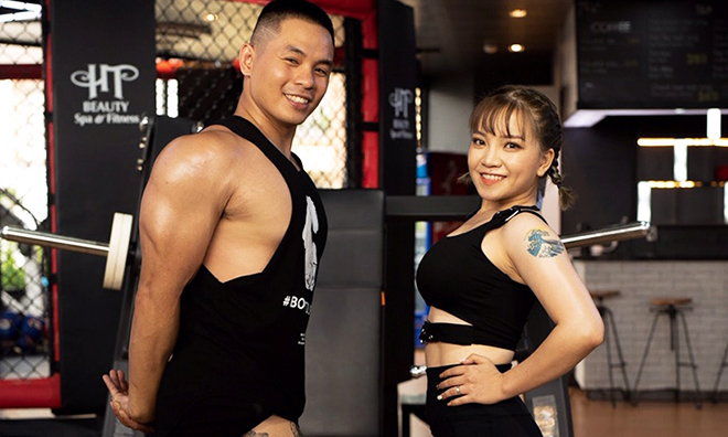 Tập gym nên duyên vợ chồng