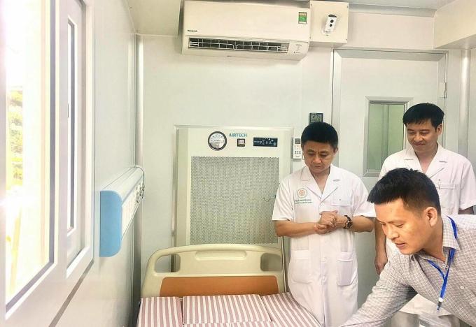 Bệnh viện 108 lắp thêm phòng áp lực âm ngăn nCoV