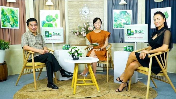 Thúy Hạnh tham gia chương trình giải pháp cho bệnh nhân u bướu của phụ nữ tuổi 30 do nhãn hàng Ancan tổ chức.