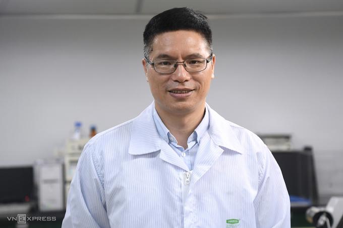 Tiến sĩ Đỗ Tuấn Đạt, Chủ tịch Công ty TNHH MTV Vaccine và Sinh phẩm số 1 (Vabiotech). Ảnh: Giang Huy.