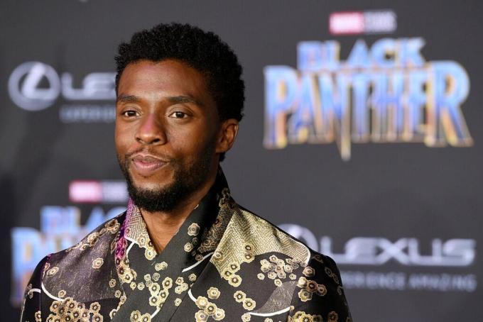 Nam diễn viên Chadwick Boseman trong buổi ra mắt phim Black Panther năm 2018, anh đã qua đời hôm 28/8 vì ung thư trực tràng. Ảnh: AP