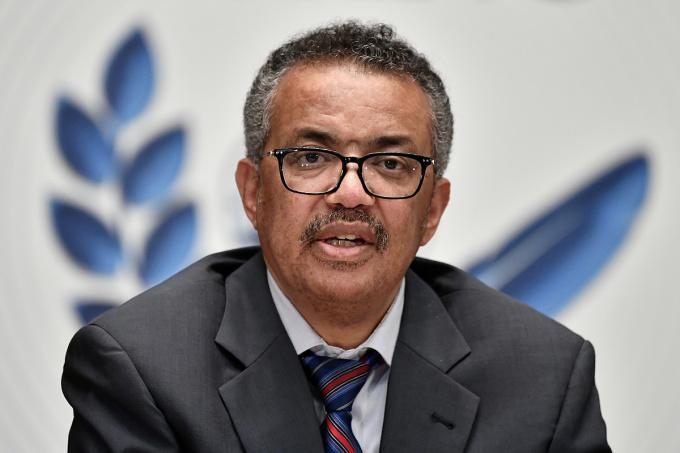 Tổng giám đốc TedrosAdhanom Ghebreyesus trong buổi họp tại Geneva, Thụy Sĩ, ngày 3/7. Ảnh: Reuters