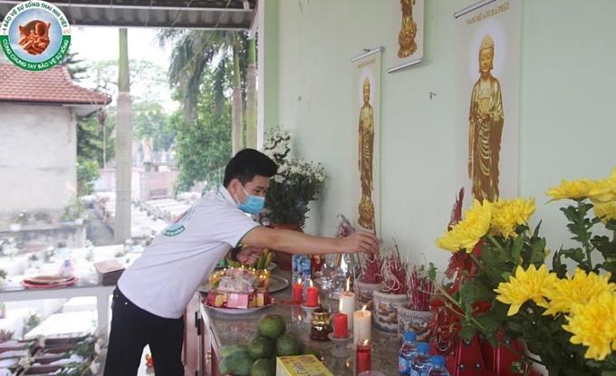 Anh Minh Tinh - Trưởng nhóm thiện nguyện Bảo vệ sự sống thai nhi Việt . Ảnh: Nhân vật cung cấp
