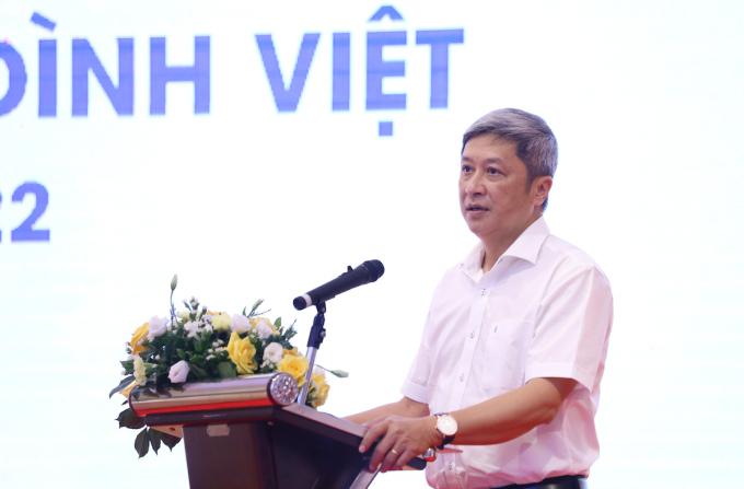 PGS. TS Nguyễn Trường Sơn, Thứ trưởng Bộ Y tế tham dự và phát biểu chỉ đạo tại chương trình.