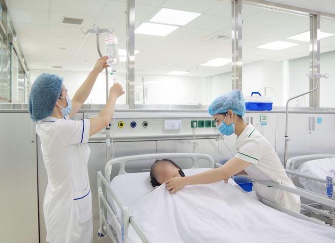 Một bệnh nhân trẻ tuổi đột quỵ não được điều trị tại Bệnh viện 108. Ảnh: Bệnh viện cung cấp.