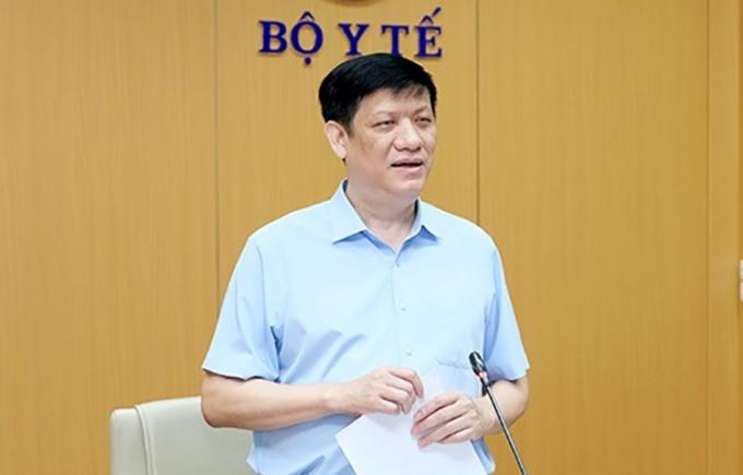 Quyền Bộ trưởng Bộ Y tế Nguyễn Thanh Long tại buổi giao ban. Ảnh: Trần Minh.
